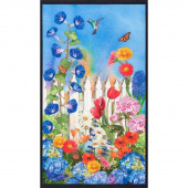 Vibrant Garden - Flowers Garden Digitally Printed Panel