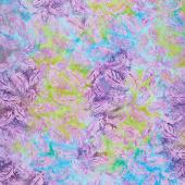 Petal Party Batiks - Tossed Feather Mardi Gras Yardage