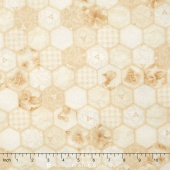 Arabella - Tonal Hexagons Natural/Tan Yardage
