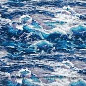 Lighthouse Wonders - Water Blue Yardage