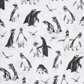 Magdalena - Penguin Light Grey Yardage