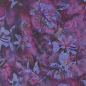 Batik Rayon - Raspberry Fusion Yardage