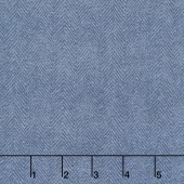Woolies Flannel - Herringbone Dusty Blue Yardage
