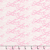 Love Grows - Love Script Whimsical White Yardage
