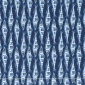 Indigo Coastal - Fish Blue Yardage