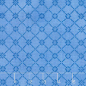 Fresh as a Daisy - Tonal Lattice Sky Blue Yardage