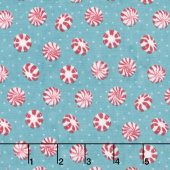Cuppa Cocoa - Peppermint Toss Teal Yardage