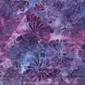 Artisan Batiks - Daisy's Garden 3 Butterflies Petunia Yardage