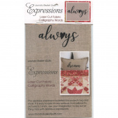 Expressions Laser Cut Fabric Words - Always
