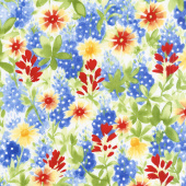 Bluebonnet Patch - Wildflower Patch Ivory Yardage