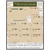 Gnome for the Holidays Paper Calendar June 2021 to December 2022