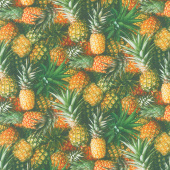 A La Carte - Welcome Committee Pineapple Multi Digitally Printed Yardage