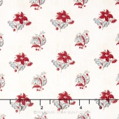 Hamilton - From Eliza Hamilton's Era c. 1770-1790 Spaced Flower Cream Yardage