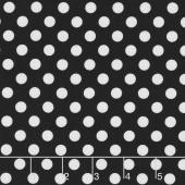 Kimberbell Basics - Dots Black Yardage