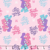 Care Bears - Sparkle & Shine Smiles in Pink Yardage