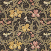 May Morris Studio - Iris 1887 Ebony Yardage