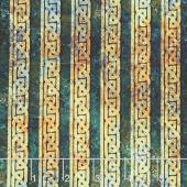 Stonehenge - Solstice Celtic Knot Stripe Teal Yardage