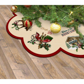 Spruce Mountain - Tree Skirt Cream Digitally Printed Panel