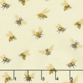 Bee a Keeper - Allover Bees Cream Yardage