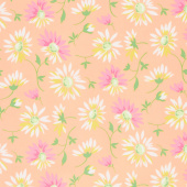 Good Day! - Lazy Daisies Orange Yardage