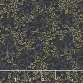 Field of Dreams - Garden Scroll Black Yardage