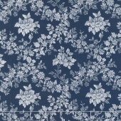 Charming - Charming Rose Navy Yardage
