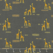 Safari Life - Giraffe Life Black Yardage