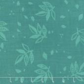 Bazaar Rayon Batiks - Flowers Teal Yardage