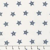 Star & Stripe Gatherings - Star in a Star Ivory Blue Yardage