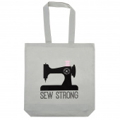 Sew Strong Canvas Tote Bag Grey