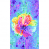 Spirit - Anemone Flower Multi Digitally Printed Panel