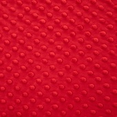 "Cuddle® Embossed Dimple - Scarlet 60"" Minky Yardage"