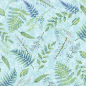 Feather & Flora - Fern Light Spruce Yardage