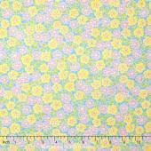 Cozy Cotton Flannels - Flowers Aqua Yardage