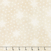 Most Wonderful Time Flannel - Falling Snow Cream Yardage