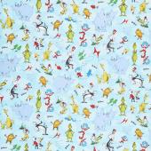 Celebrate Seuss! - Characters Aqua Yardage