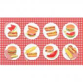 Chow Time - Picnic Multi Digitally Printed Panel