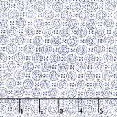 Indi-glow - Dotted Circles Tan Yardage