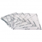 Complete Fussy Cut Ruler Set