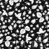 It's the Berries - Scatter Black Yardage