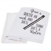 Screen Printed Towel - Give a Quilter an Inch