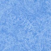 Tonga Batiks - Grasshopper Vacation Blue Yardage