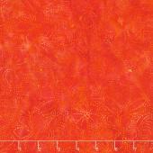 Sweet Hearts Batiks - Dot Hibiscus Cinnamon Yardage