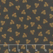 Esther's Heirloom Shirtings - Tossed Leaves Black Yardage