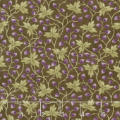 Clover Meadow - Leaves Earth Brown Yardage