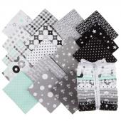 Cozy Cotton Flannels Cool Mint Fat Quarter Bundle