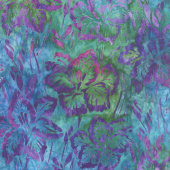 Artisan Batiks - Bright Blooms Flowers Jewel Yardage