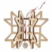 3D Binding Star Ornament With Charm