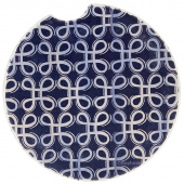 Indigo Patterns Car Coaster - Loops