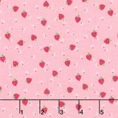 Flutter and Shine - Strawberries Pink Yardage